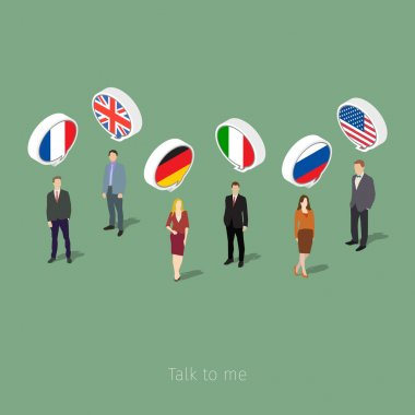 Concept of business travel or studying languages