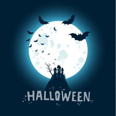 Halloween Bats flying in night