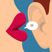 Fotografie Concept of gossip or love