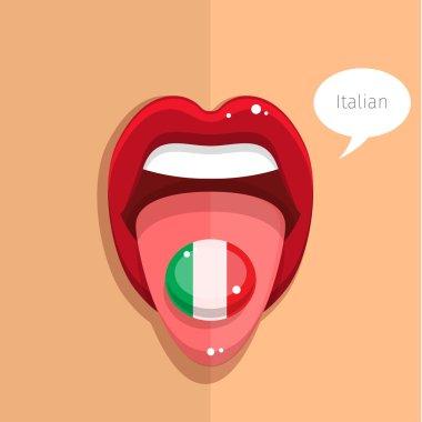 Italian language concept