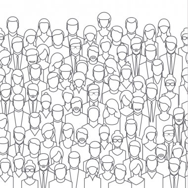 abstract people crowd