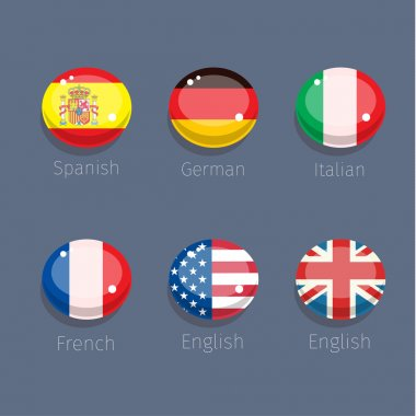 different countries icons
