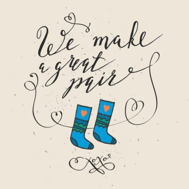 funny socks and note