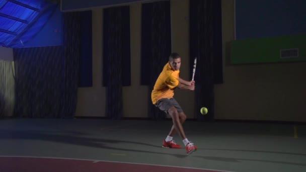 Tennis shots: Backhand (slow motion)