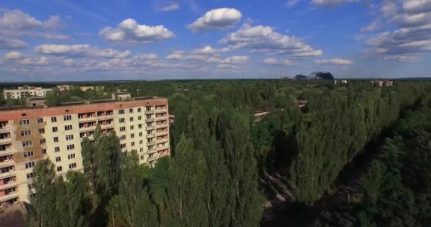 The Abandoned City of Pripyat near Chernobyl (Aerial, 4K)