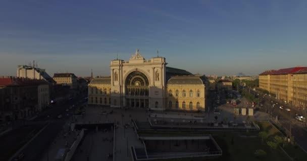 Budapest Keleti Train Station (Aerial)