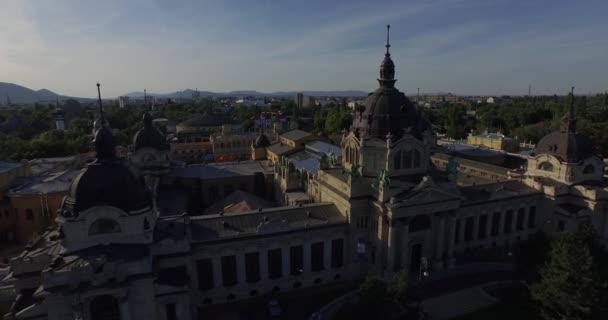 Szabadtéri fürdő és gyógyfürdő Budapesten, Magyarország (légi)