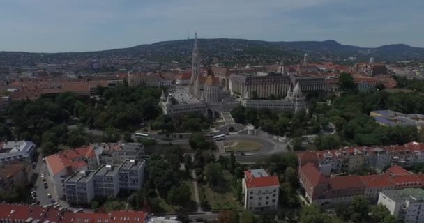 The Matthias Church and the Fishermens Bastion (AERIAL)