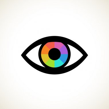 Eye icon with pupil spectrum