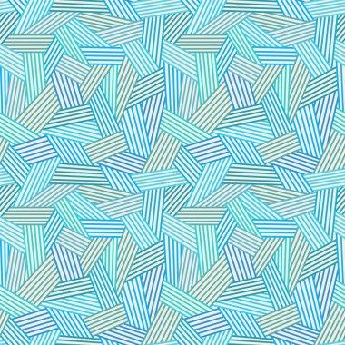 Abstarct blue linear seamless pattern