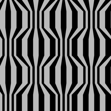Seamless pattern with broken strips