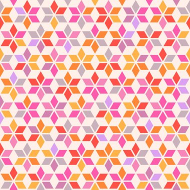 Seamless pattern with geometric ornament