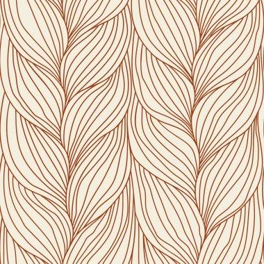 Seamless pattern with braids weaving