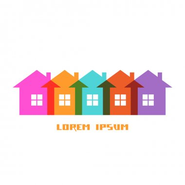 Color group houses icon