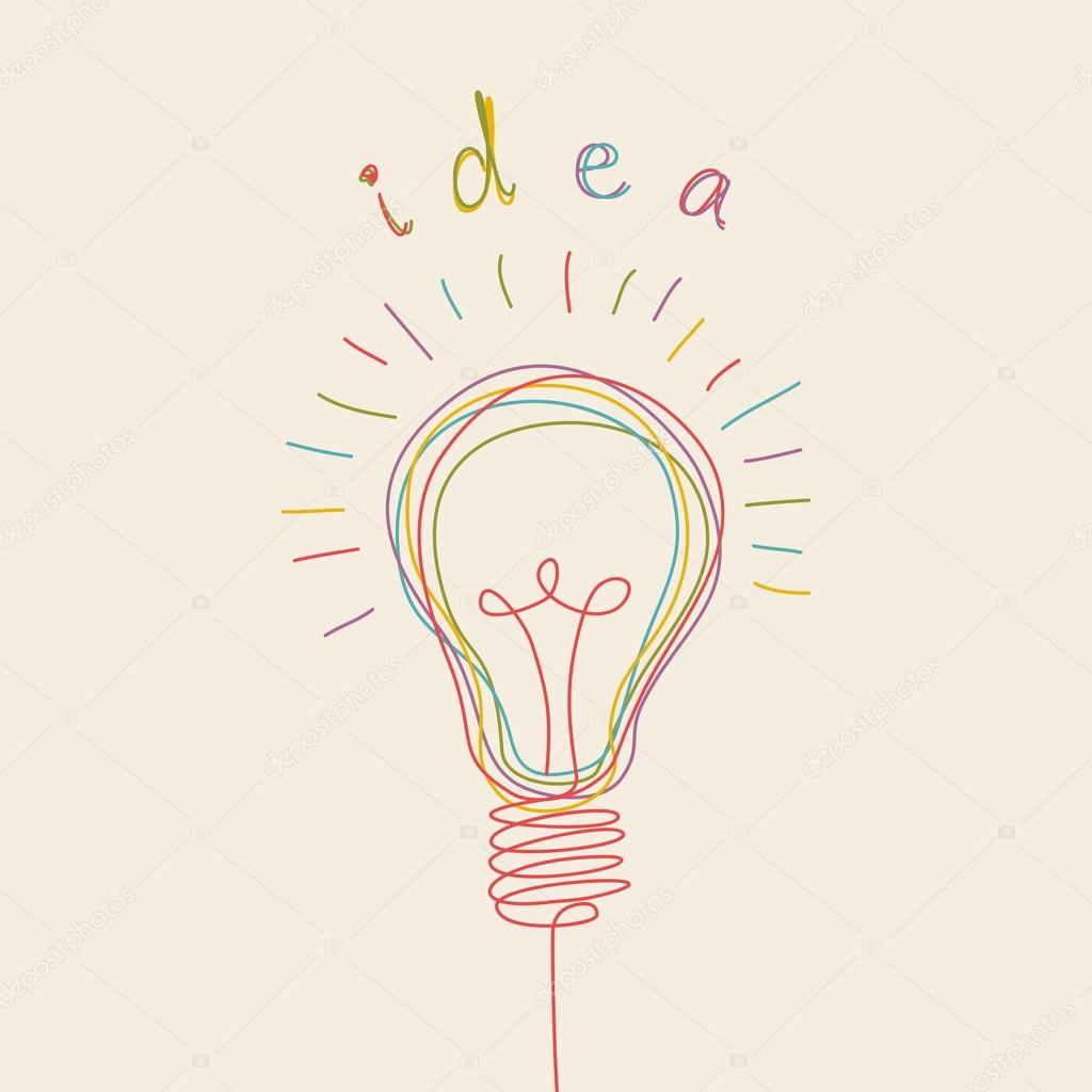 Light bulb icon with concept of idea