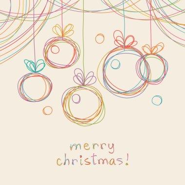 Christmas doodles card