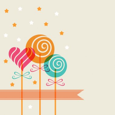 Background with color candy, banner