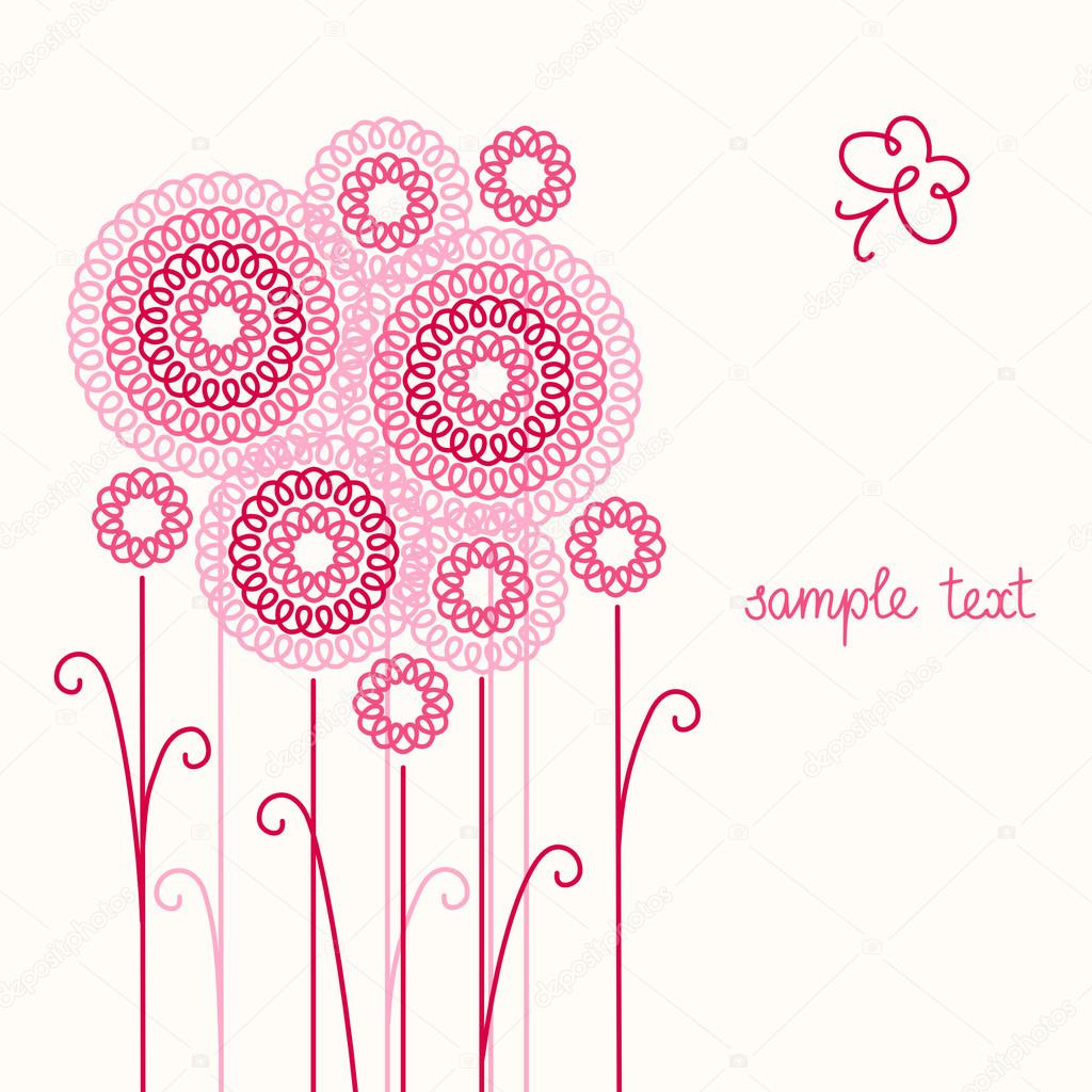 Sfondo chiaro con i fiori stilizzati vettoriali stock for Fiori stilizzati immagini