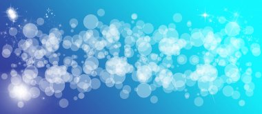 Gentle multicolored bokeh sparkly website header