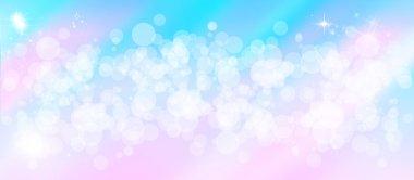 Gentle multi colored bokeh sparkly website header