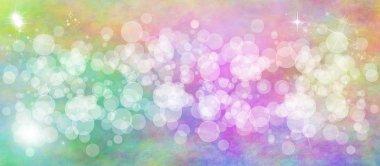 Gentle multicolored bokeh sparkly website header