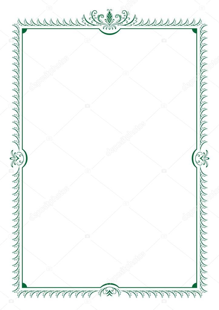Frame vector border decorative swirls leaves invitation frame vector border decorative swirls leaves invitation greeting card certificate diploma vintage floral element vector by svetlanaparsh stopboris Choice Image