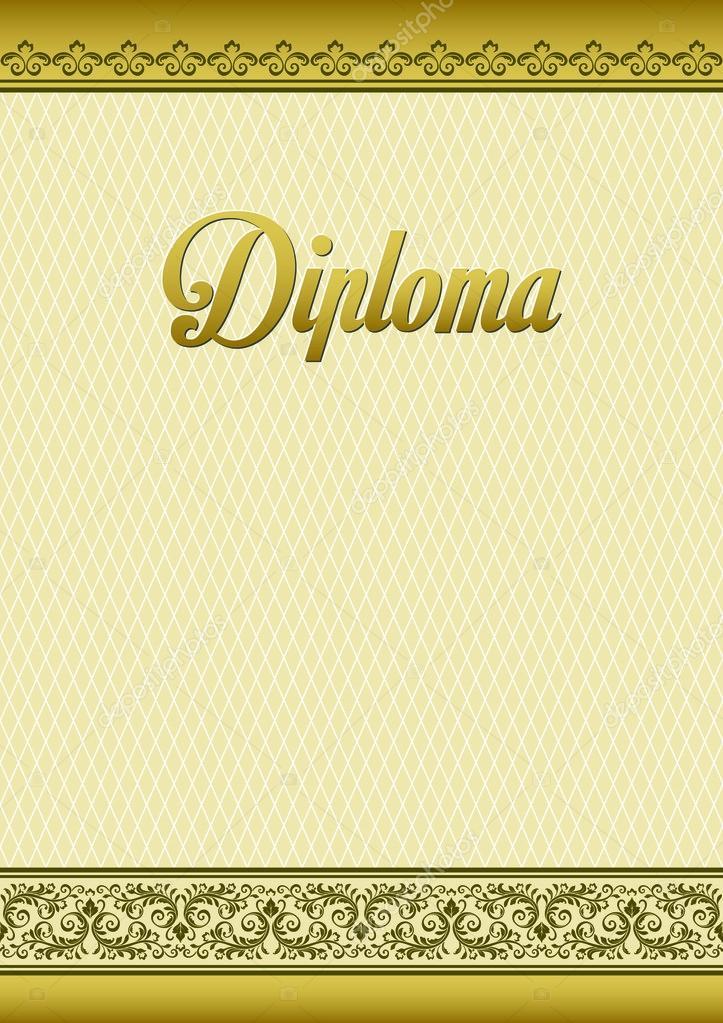 Dekorative Vorlage für Diplome, Zertifikate. A4-Seiten-format ...