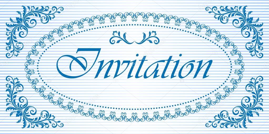 Decorativo marco ovalado y el fondo para una invitación. Tonos de ...