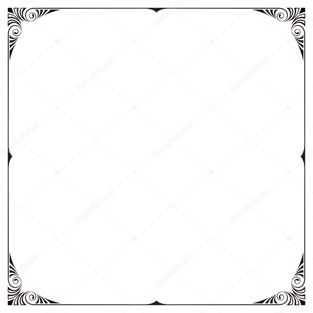 Marco cuadrado negro decorativo — Vector de stock © SvetlanaParsh ...