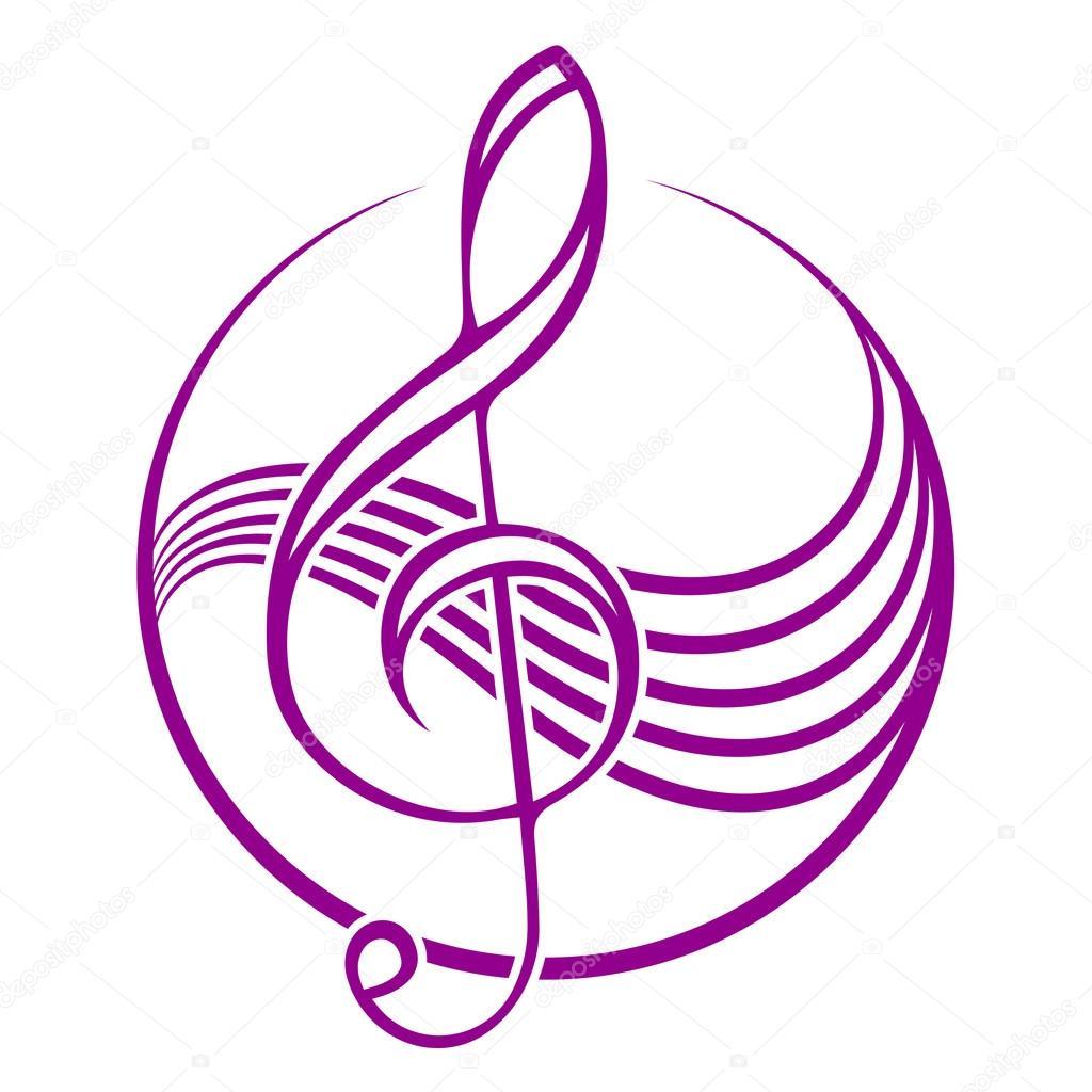 Imágenes Clave De Sol Logo Logo Con Una Clave De Sol Vector De