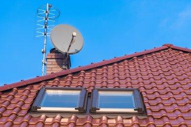 Roof windows, chimney and antennas