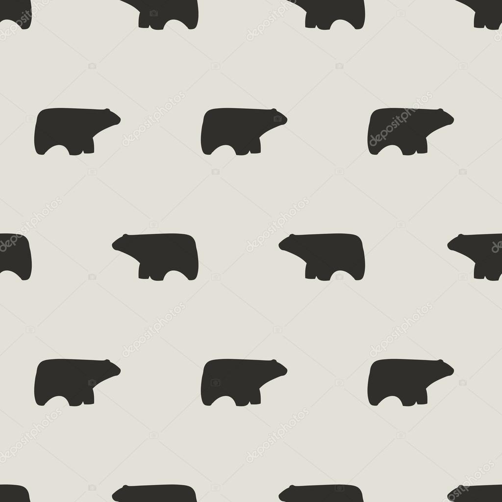 patrón de oso polar sin costuras — Archivo Imágenes Vectoriales ...