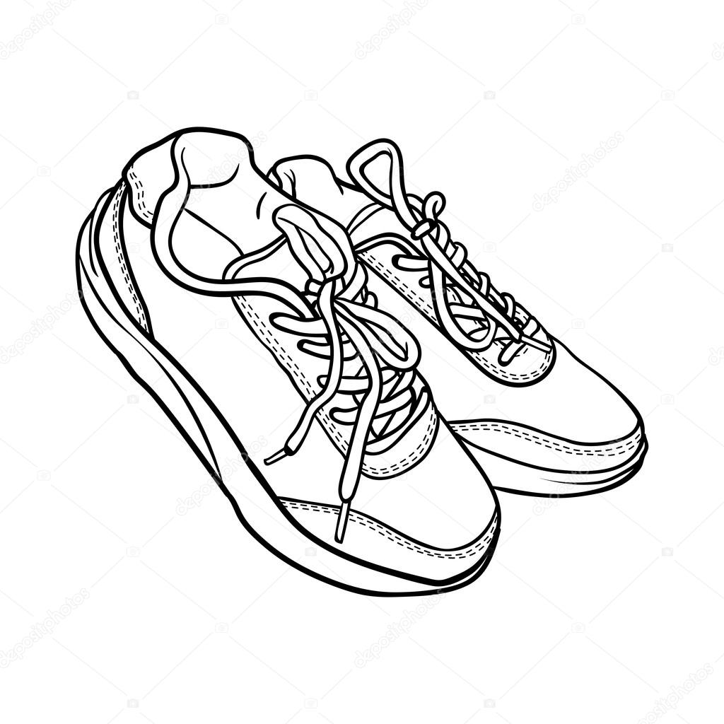 Doodle kontury boty kreslen obuv izolovan ch na b l m stock vektor jkazanceva 109813656 - Dessin basket ...