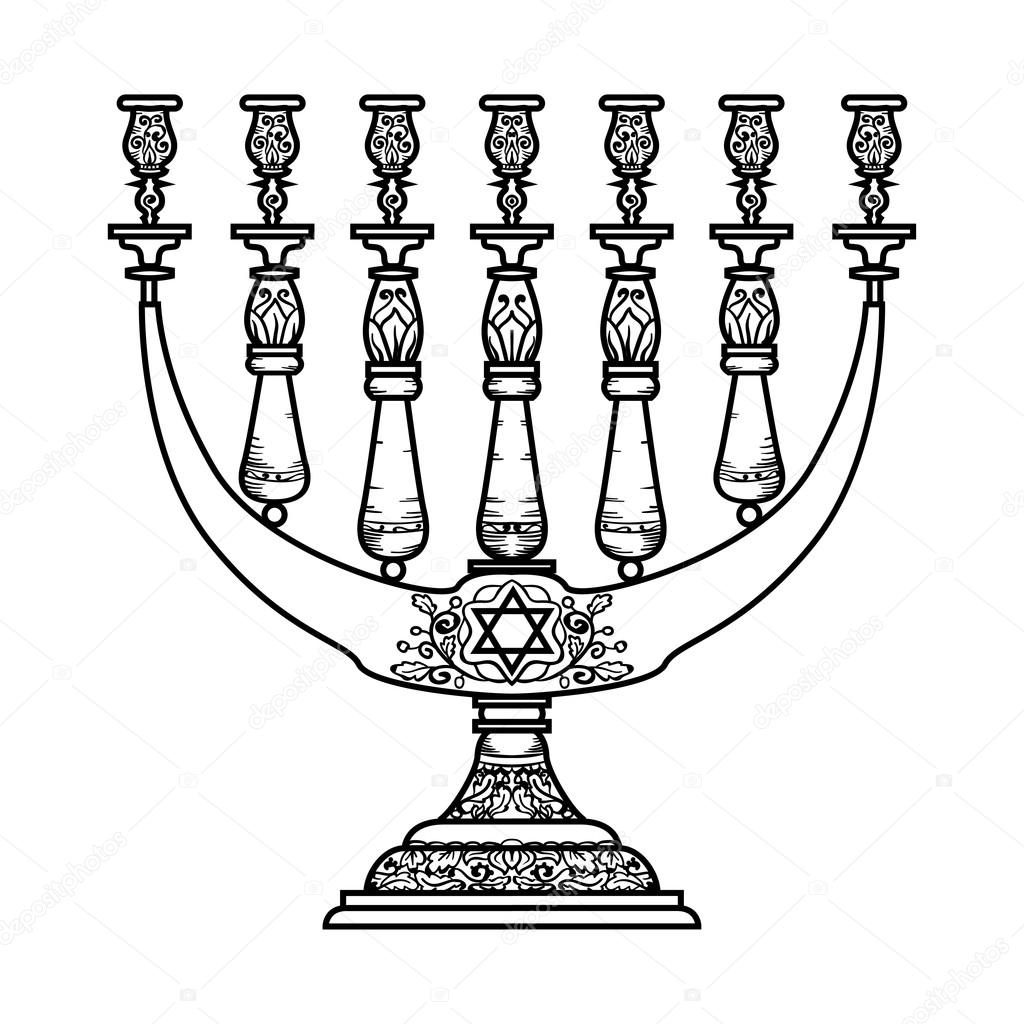 Jewish religious symbol menorah isolated on white background jewish religious symbol menorah isolated on white background stock vector biocorpaavc Image collections