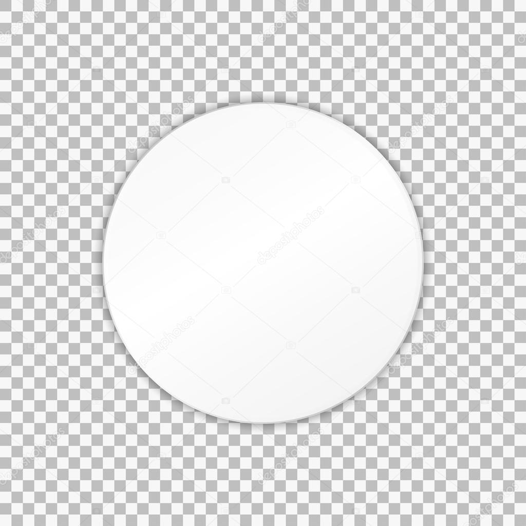 12458 2: Empty White Paper Plate. Vector Illustration On