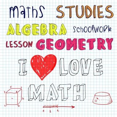 doodle math algebra geometry written by hand