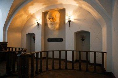 Polotsk, BELARUS - OCTOBER 25, 2020: Interior of the university talking head predictor 2020
