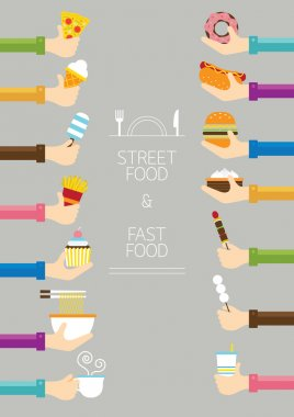 Fast Food and Street Food stock vector