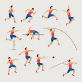 Sport Sportler, Leichtathletik, Männer Set