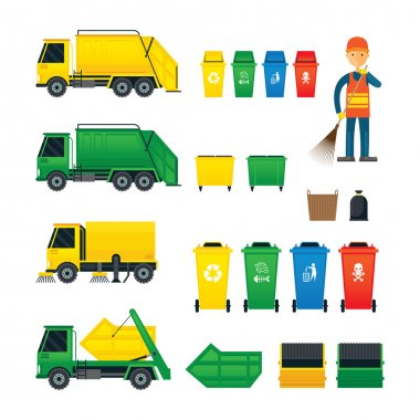Waste Collection, Truck, Bin, Dumpster, Sweeper,