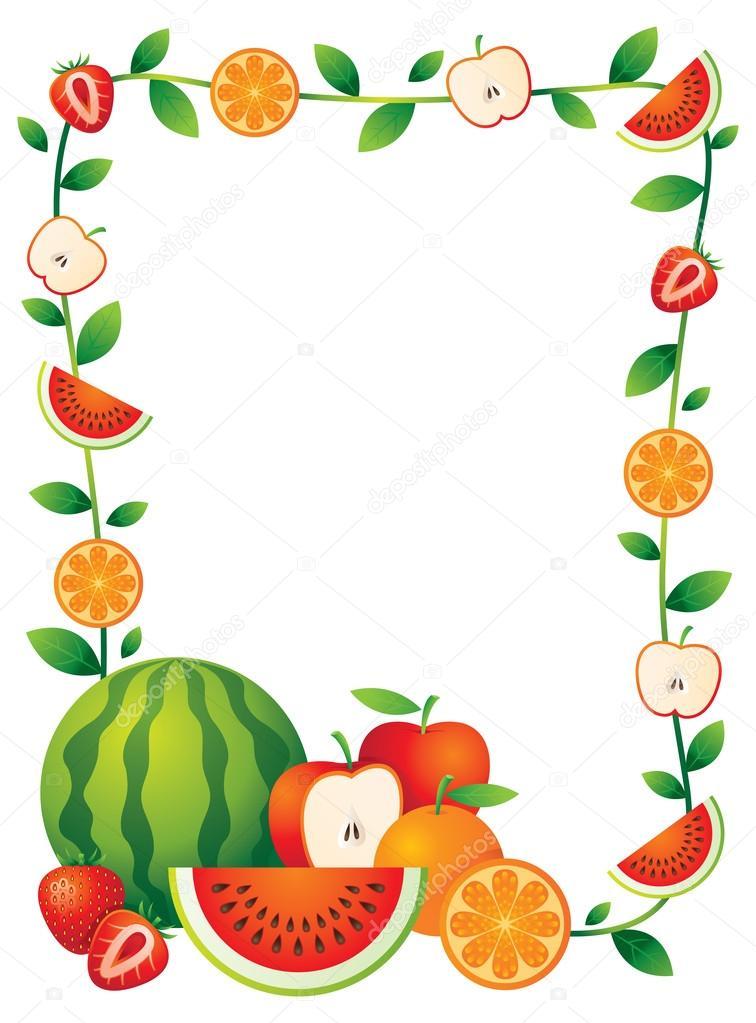 frutas mistas  borda  quadro  u2014 vetores de stock  u00a9 muchmania  59247463