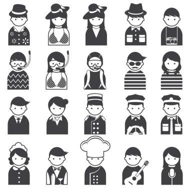 Various People Symbol Icons Hotel & Travel Set