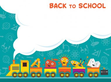 Train with Education Characters Back to School