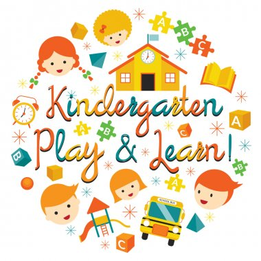 Kindergarten, Preschool, Kids Heading