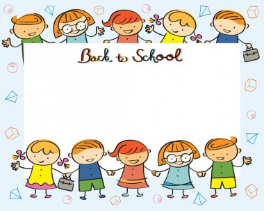 Kindergarten, Kids Back to School Frame