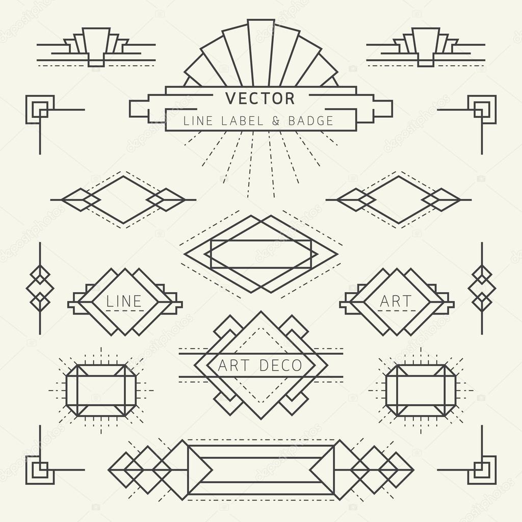 Art Deco Graphic Design Style Art Deco Style Line And