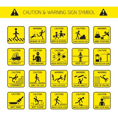 Caution and Warning Signs in Public and Construction Zone