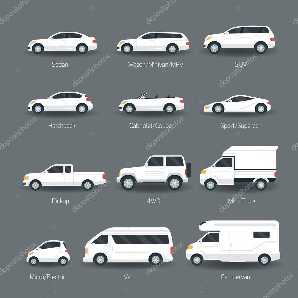 type de voiture et les objets du mod le ic nes ensemble image vectorielle muchmania 85200386. Black Bedroom Furniture Sets. Home Design Ideas
