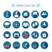 Fotografie Winter-flach-Symbole festlegen