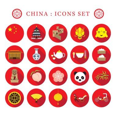 China Flat Icons Set